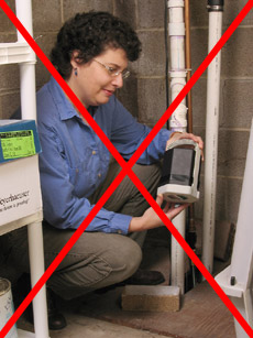Detectors should not be placed near sumps pumps or laundry areas.